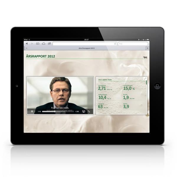 Arla årsrapport iPad app