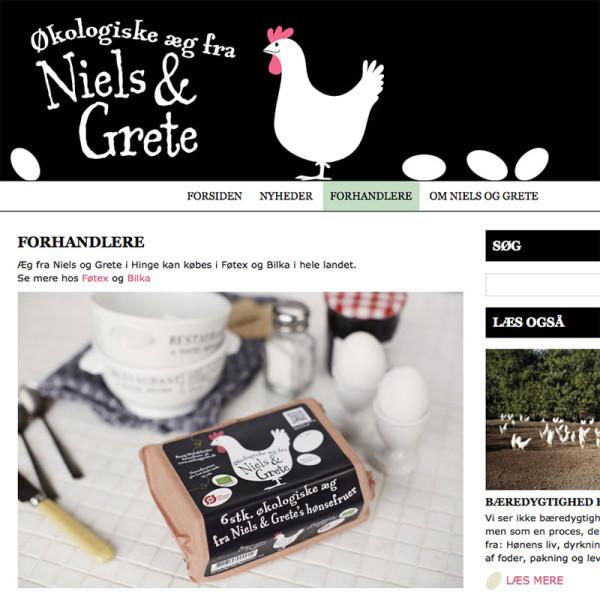 Niels og Grete website